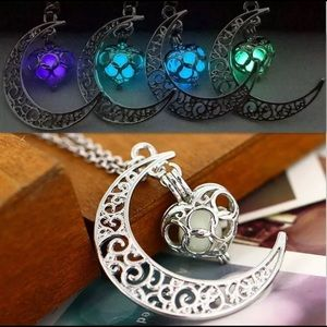 Pixie Celtic glowing moon necklace new in box